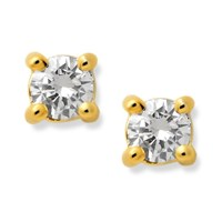 9ct Gold Diamond Solitaire Earrings - 20pts per pair - D5457