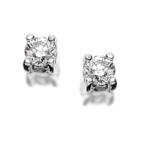9ct White Gold Diamond Solitaire Earrings - 20pts per pair - D5461