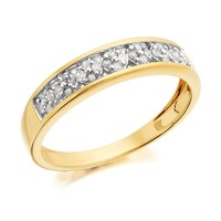 9ct Gold Diamond Band Ring - 14pts - EXCLUSIVE - D6017-P