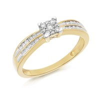 9ct Gold Diamond Ring - 1/4ct - EXCLUSIVE - D6033-J