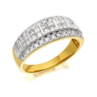 9ct Gold 1 Carat Diamond Band Ring - D6116-O