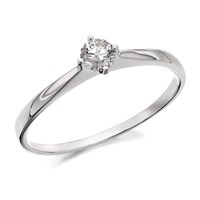 9ct White Gold Diamond Solitaire Ring - 1/4ct - D6328-P
