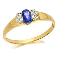 9ct Gold Sapphire And Diamond Ring - D6417-J