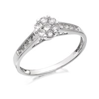 9ct White Gold Diamond Cluster Ring - 1/2ct - D6641-N