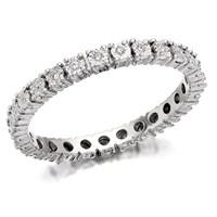 9ct White Gold Diamond Full Eternity Ring - 12pts - D6646-O