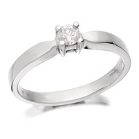 9ct White Gold Diamond Solitaire Ring - 20pts - D6681-M