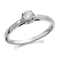 9ct White Gold Diamond Ring - 1/4ct - D6814-S