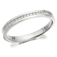 9ct White Gold Diamond Half Eternity/Wedding Ring - 7pts - D6818-J