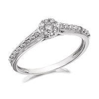 9ct White Gold Diamond Ring - 20pts - D6829-N