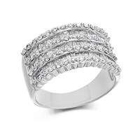9ct White Gold 1 Carat Diamond Band Ring - D6831-M