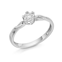 9ct White Gold Twisted Diamond Ring - 5pts - D6865-N
