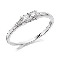U&Me 9ct White Gold Diamond Ring - 20pts - EXCLUSIVE - D6910-J