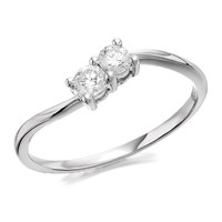 U&Me 9ct White Gold Diamond Ring - 1/4ct - EXCLUSIVE - D6911-N
