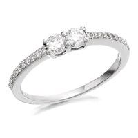 U&Me 9ct White Gold Diamond Ring - 1/3ct - EXCLUSIVE - D6912-M