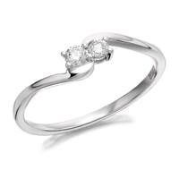 U&Me 9ct White Gold Diamond Ring - 15pts - D6914-P