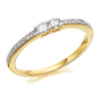 U&Me 9ct Gold Diamond Ring - 20pts - EXCLUSIVE - D6931-K