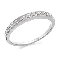 9ct White Gold Diamond Half Eternity Ring - 9pts - D7104-N