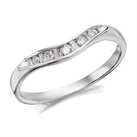 9ct White Gold Diamond Wishbone Ring - 15pts - D7115-O