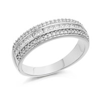 9ct White Gold Diamond Band Ring - 1/3ct - EXCLUSIVE - D7133-J