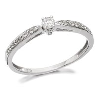 9ct White Gold Diamond Ring - 20pts - D7175-L