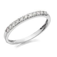 Women's Jewellery 9ct White Gold Diamond Half Eternity Ring - 1/4ct - D72112-L