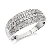 9ct White Gold Diamond Band Ring - 1/2ct - D7218-N