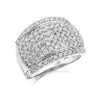 9ct White Gold 2 Carat Diamond Band Ring - D7223-N