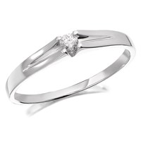 9ct White Gold Diamond Ring - 7pts - D7237-M