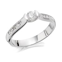 9ct White Gold Diamond Ring - 30pts - EXCLUSIVE - D7264-J