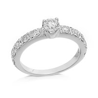 9ct White Gold 1 Carat Diamond Ring - D7271-M