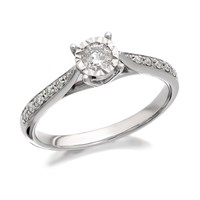 9ct White Gold Diamond Ring - 1/4ct - D7718-M