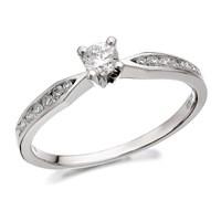 9ct White Gold Diamond Ring - 1/4ct - D7740-L
