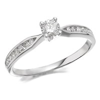 9ct White Gold Diamond Ring - 1/3ct - D7767-M