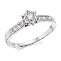 9ct White Gold Diamond Ring - 1/4ct - EXCLUSIVE - D7768-K