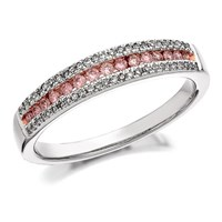 9ct White Gold One In A Million Pink Diamond Band Ring - 1/3ct - D7875-O