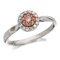 9ct Gold Two Colour One In A Million Pink Diamond Cluster Ring - 1/4ct - D7877-M