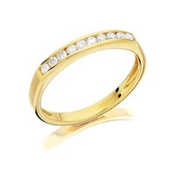 9ct Gold Diamond Half Eternity Ring - 20pts - D8002-K