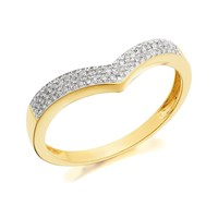 9ct Gold Diamond Wishbone Ring - 15pts - D8012-R