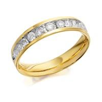 9ct Gold Diamond Half Eternity Ring - 1/2ct - D8034-Q