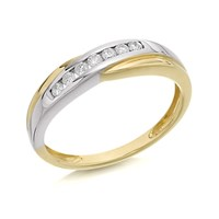 9ct Gold Two Colour Diamond Half Eternity Ring - 15pts - EXCLUSIVE - D8045-S