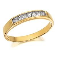 9ct Gold Diamond Half Eternity Ring - 15pts - D8049-N