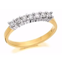9ct Gold Diamond Half Eternity Ring - 1/4ct - D8051-P