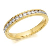 9ct Gold Diamond Half Eternity Ring - 1/2ct - AGI Certificated - D8062-P