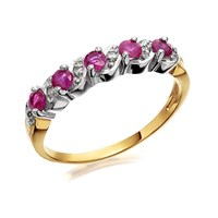9ct Gold Ruby And Diamond Ring - D8217-K