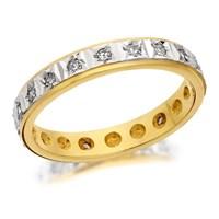 9ct Gold Diamond Full Eternity Ring - 1/4ct - D8975-N