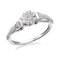 My Diamonds Silver Diamond Cluster Ring - 20pts - D9077-J