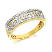 9ct Gold Diamond Band Ring - 1/2ct - D9208-N