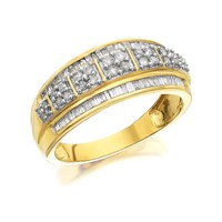 9ct Gold Diamond Band Ring - 1/2ct - D9227-P