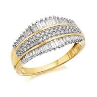 9ct Gold Diamond Tiara Ring - 3/4ct - D9228-P