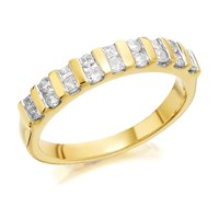 9ct Gold Diamond Band Ring - 1/2ct - D9239-N